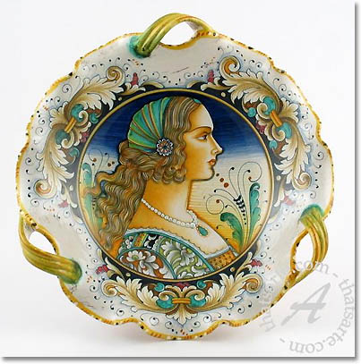 elegant majolica bowl  sc 1 st  Dream Home Decorating & Tuscan Dinnerware: Umbrian u0026 Tuscan Style Dinnerware From The Heart ...