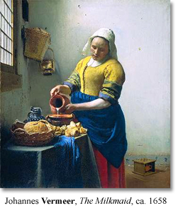 primary colors in a vermeer painting