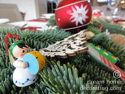 This little musician is one of our oldest Christmas tree figures.