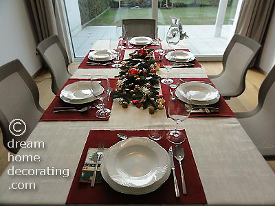 Our Christmas table decoration