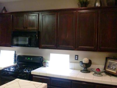 close up - Oak Kitchen Cabinet Makeover