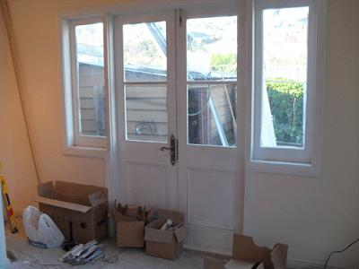 Back Wall (Now Kitchen) With New French Doors