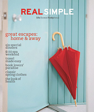 Real Simple Magazine Cover, March 2001