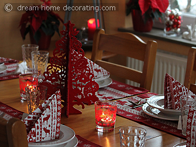 Scandinavian Style Christmas Table With Felt Tree Centerpiece