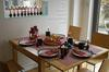 'Contemporary rustic' Christmas breakfast table