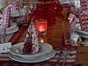 Red & White  Color Scheme For Napkins / Place Mats / Place Cards
