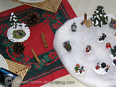 Closeup of the Christmas table