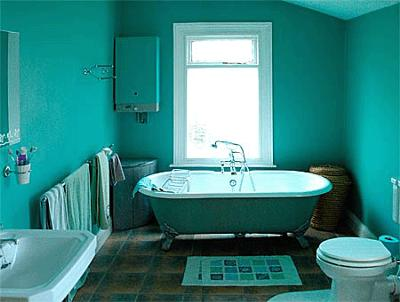 Our old turquoise bathroom