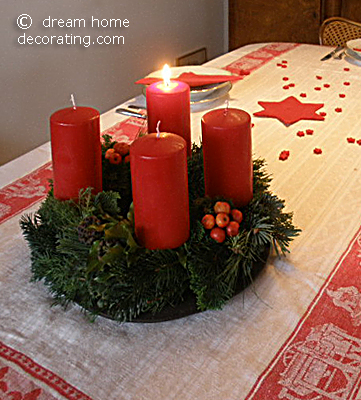 Our Advent wreath on the first Sunday of Advent