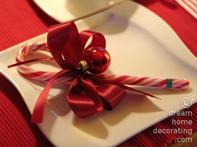 Ribbon garnished candy cane