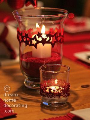 Embellished candle holders