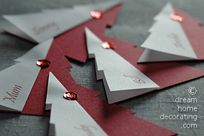 Sequinned place cards