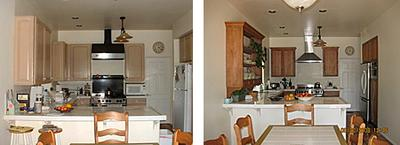Cyndy's kitchen, before & after the remodel ... details below!